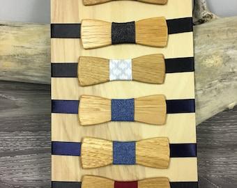 Bow tie wooden youth bow tie for wedding, graduation ceremony bowtie bowtie