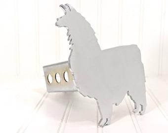 Chrome Llama Hitch Cover
