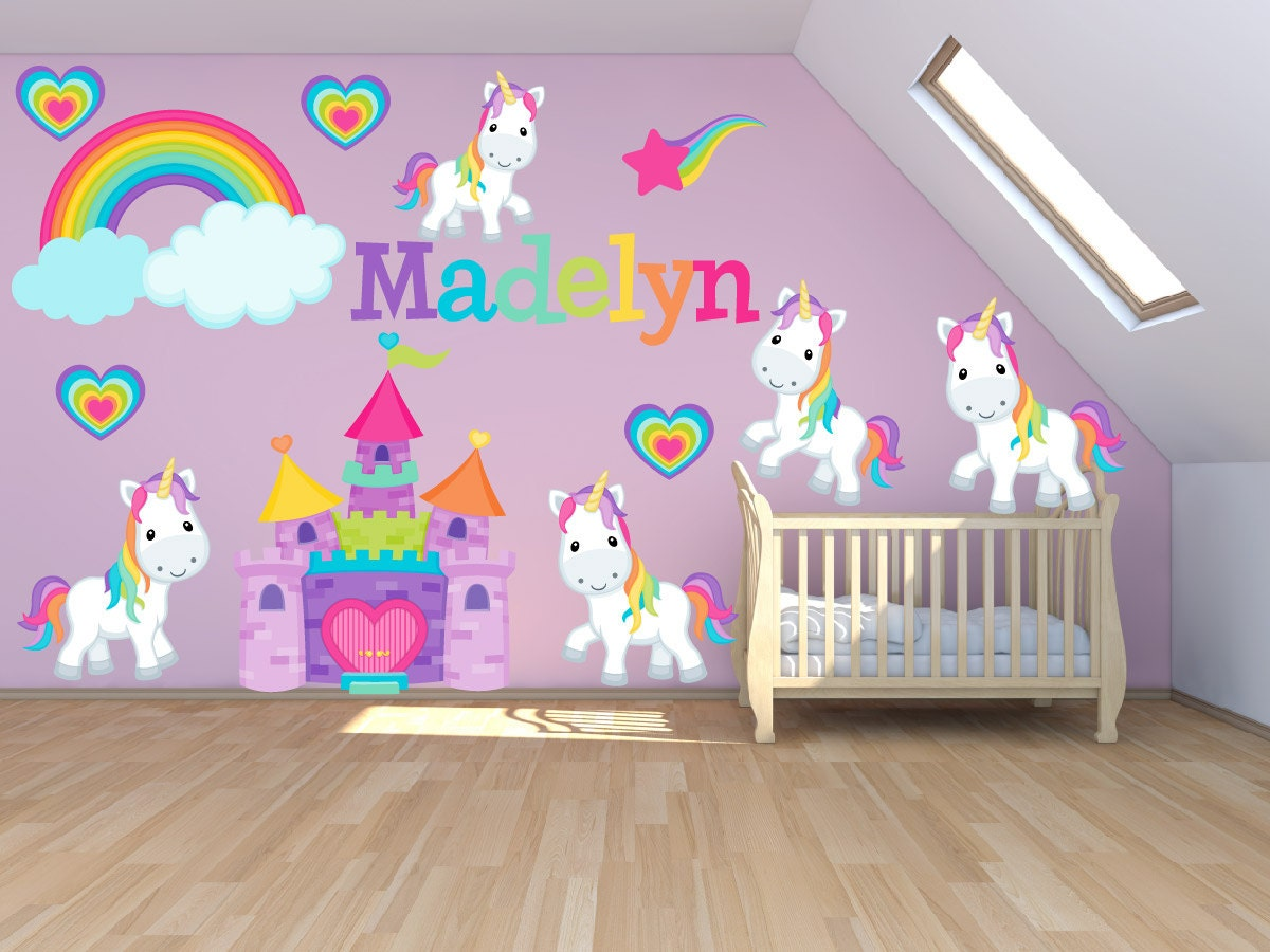 Wall decals for kids bedroom pony wall decal princess zoom amipublicfo Gallery