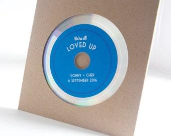 Platinum Vinyl styled blank CDs with custom labels and kraft sleeves - SAMPLE