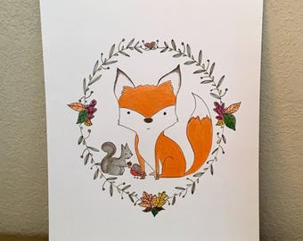 Fox in Autumn - Wall Art