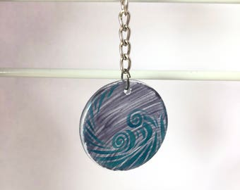 Natural Elements Glass Charm (Wind)