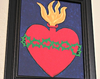 Sacred Heart painting