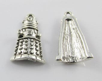 Bulk Dr Who Dalek Charm Pendant Extraterrestrial Race 21x13mm Select Qty