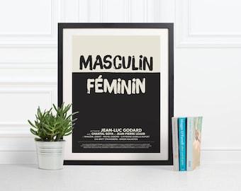 Cartel de la película alternativa de Masculin Féminin