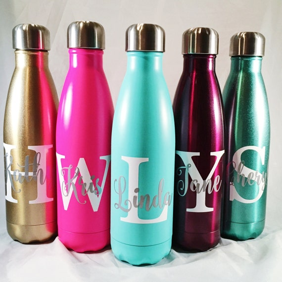 Personalized Swell Bottle - Big Initial and Namel