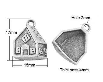 Gingerbread House Charm - Set of 10 - #G133