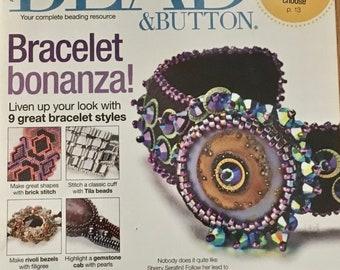 Bead and Button Magazine Bracelet Bonanza Brick Stitch Tila Beads Gemstone Cabochon Rivoli Bezels Filigree Chunky Necklace August 2012