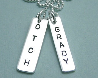 Personalized OTCH Necklace - Sterling Silver Hand Stamped Necklace