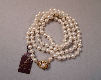 "Marvella 30"" Faux Pearl Necklace New With Tag"