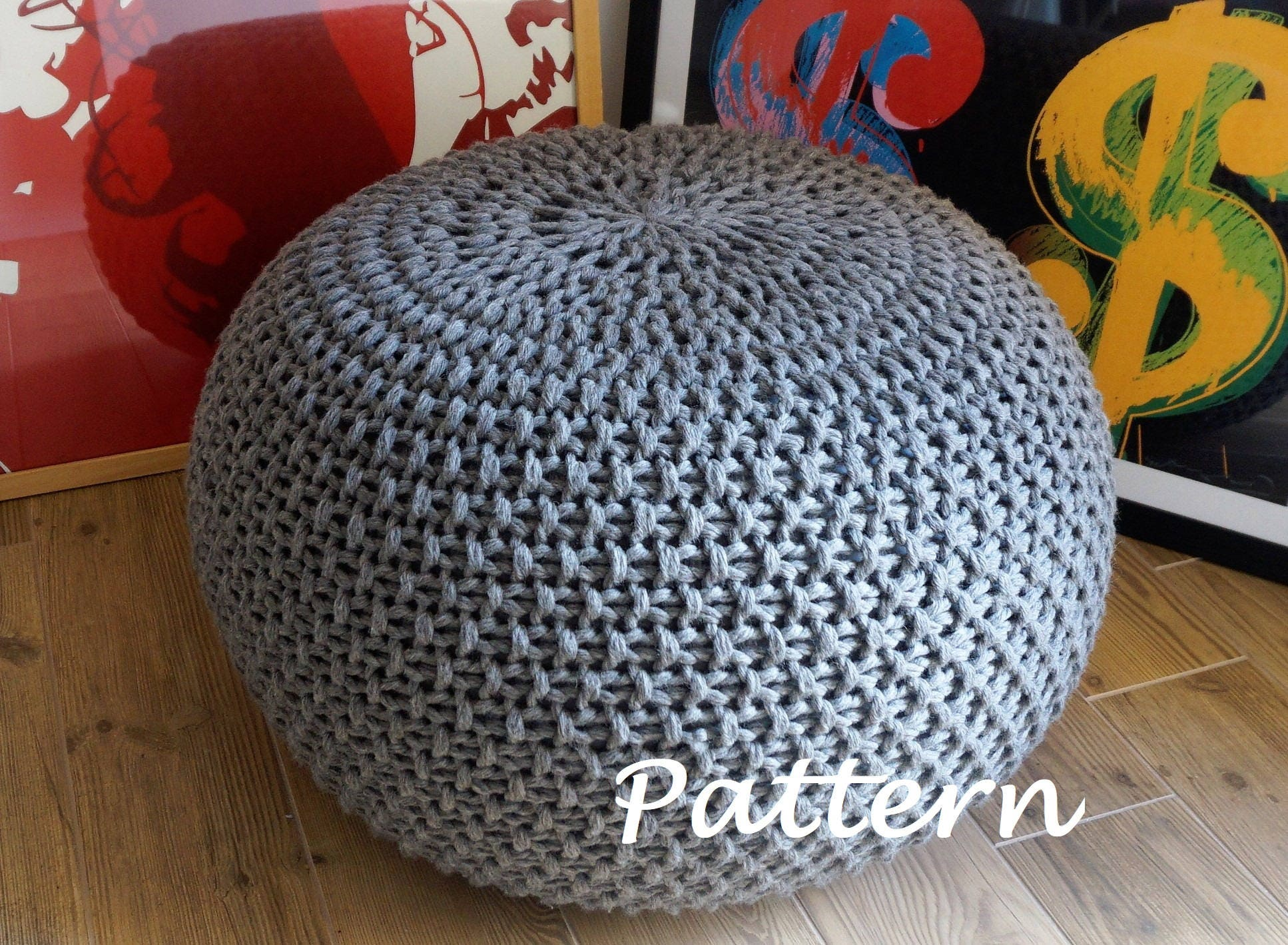 Magnificent Pouf Pattern Knit Embellishment - Sewing Pattern for ...