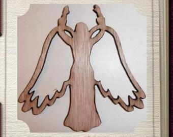 Angel Ornament - Laser Cut Wood