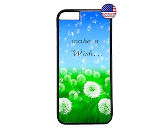 Colorful Flowers Dandelion Wish Quote Hard Rubber TPU Slim Case Cover for iPhone X 8 7 6 6s PLUS 5 5s SE 5C 4 4s iPod Touch 4 5 6