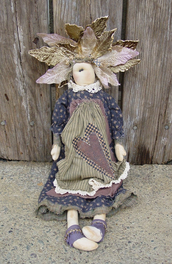 "Pattern: Laurel - 18"" Flower Prim Rag Doll"