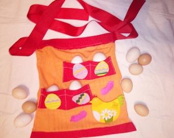 Egg gathering apron  apron for the child