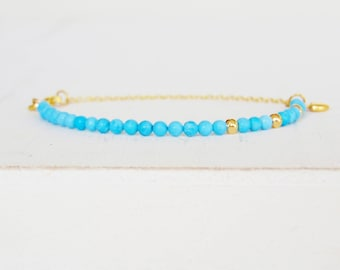Turquoise Bracelet, Mala Bracelet, Yoga Bracelet, Gemstone Bracelet, Healing Bracelet, Turquoise Jewelry, Dainty Beaded Bracelet, Boho