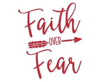 Faith Over Fear Decal/Sticker