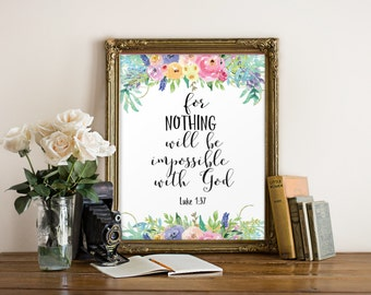 Bible verse, Nursery bible verse, Nursery art, Inspirational quote art, Nursery wall art, Christian wall art print, Scripture art BD-1012