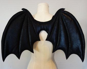Costume Bat Wings, costume wings, Halloween costume, vampire costume, black wings, succubus, cosplay bat wings, Bat girl, demon wings,