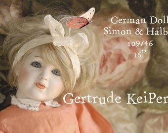 German Doll - Gertrude Keiper- By repro German maker Simon and Halbig - Bisque 109/46 - 120