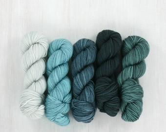 MINI SKEIN set: BALTIC, Fave Sock yarn