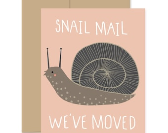 Snail Mail Cards, Blank Snail Cards, Inspiring Cards, Snail Greeting Cards, Snail Inspiration Cards, Snail Thinking Of You Cards