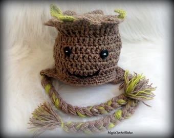 Crochet Groot Inspired Hat,baby groot hat,groot crochet hat,Baby Groot Hat, Crochet Groot Hat, Baby Groot Hat, Baby Tree,groot costume,