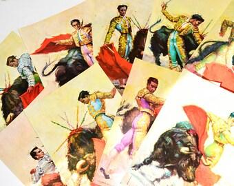 Lot de 9 cartes postales de célèbres toreros