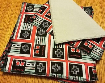 """Nintendo Controller 10"""" Fabric 2-ply Reusable Napkins"""