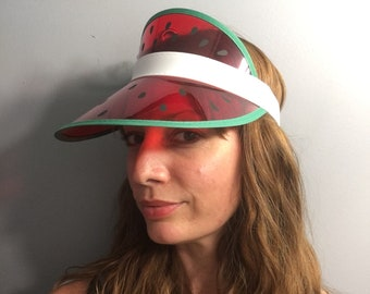 Watermelon visor // one size fits most