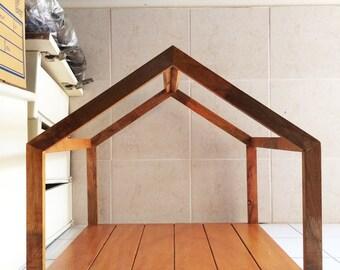 Handcrafted WOOD Cat & Dog House/Pet Shelter(Modern Frame), Indoor Cabin, Comfort Kennel, Natural Wood Pet Cage, 200-1015-mm,8-40-inch Width