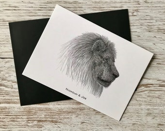 Lion Notecard / Postcard