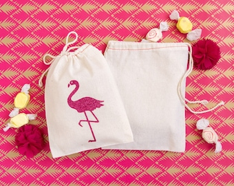 Flamingo Favor Bags - Glitter Flamingo Party Favors - Flamingo Wedding Favors - Flamingo Party - Let's Flamingle - Beach Wedding Favors