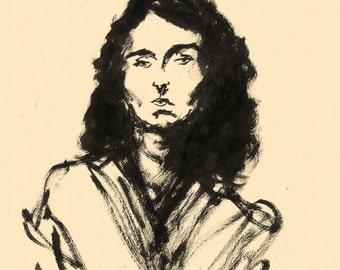 female portrait, original drawing