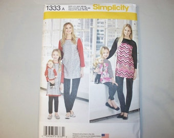 New Simplicity, Tunic and Leggings Pattern, 1333, Mommy, Me and Dolly (Free US Shipping)