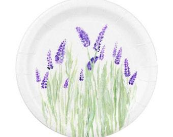 Lavender Paper Plates flower paper plates lavender party purple floral plates lavender paper plate floral paper plates  sc 1 st  Etsy & Purple paper plates | Etsy