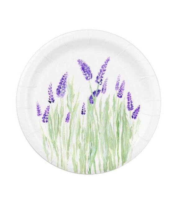 Like this item?  sc 1 st  Etsy & Lavender Paper Plates flower paper plates lavender party