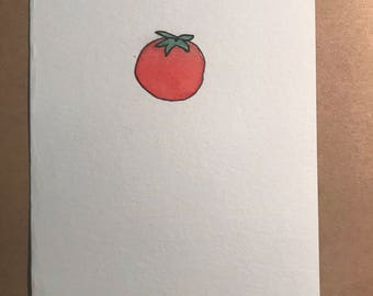 Hand Painted Tomato Note Card