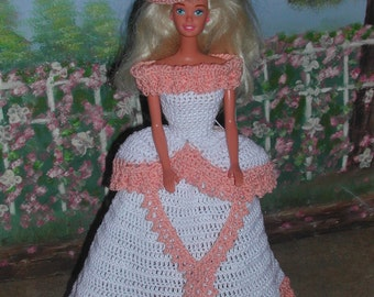 Crochet Fashion Doll Barbie Pattern- #106 BELLE of the SOUTH ANNE
