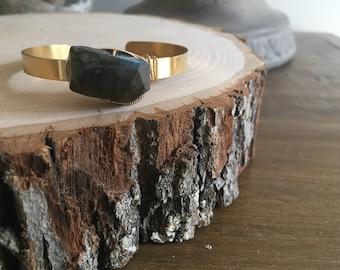 Large Labradorite Wrap Bracelet