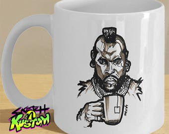 Mr Tea Gift Mug / Mister Coffee T Cup - 80s Throwback Art