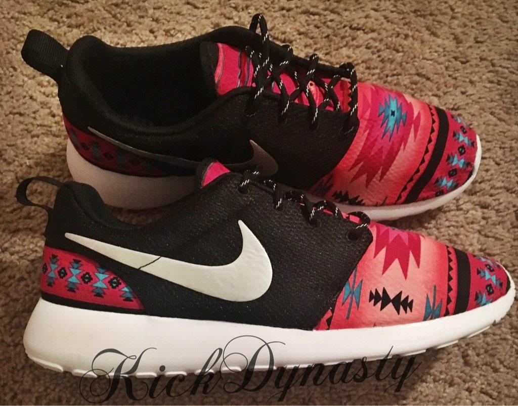 15% OFF SALE Nike Tribal Roshe Run Custom Sneakers