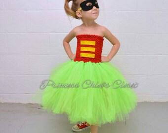 Robin double layer tutu and mask set
