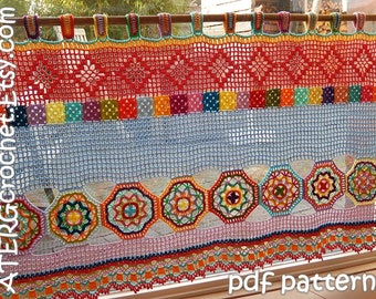 Crochet pattern BOHO CURTAIN/VALANCE by ATERGcrochet