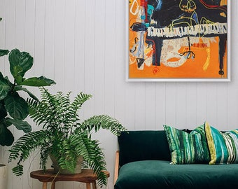Paino, limited editon cotton canvas print - hand made from Melbourne