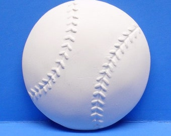 Ready To Paint/DIY/Plaster/ChalkWare/PlasterCraft Flat Back Magnet Baseball #203