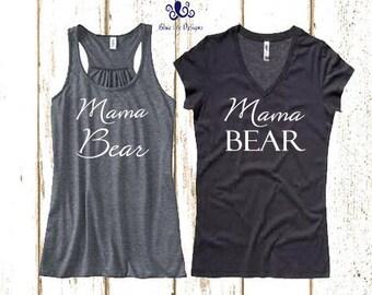 Mama Bear,Mama Bear Tank, Mama Bear Shirt, Mommy to be shirt, Future mommy shirt, Mama Shirt, Mama Bear Vneck, Mama Bear T