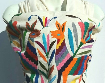 Mexican cotton manta baby wrap carrier long  Rebozo hand embroidery sling