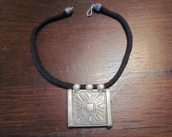 Berber Silver Pendant Necklace