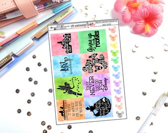 Disney Quotes Planner Stickers | Perfect for any planner